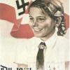 Nazi propaganda poster featuring girl smiling