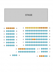 Seating layout of the Butter Factory Theatre